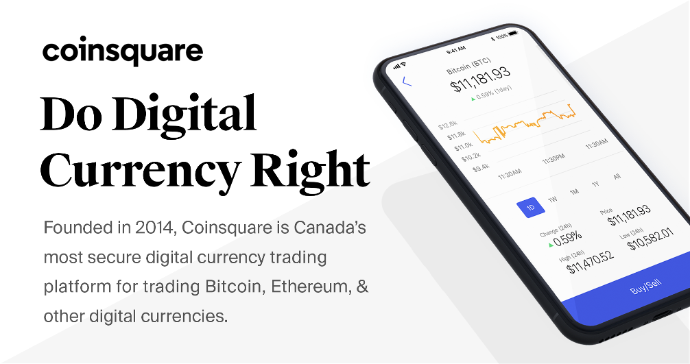 Canadian? Buy bitcoin at Coinsquare